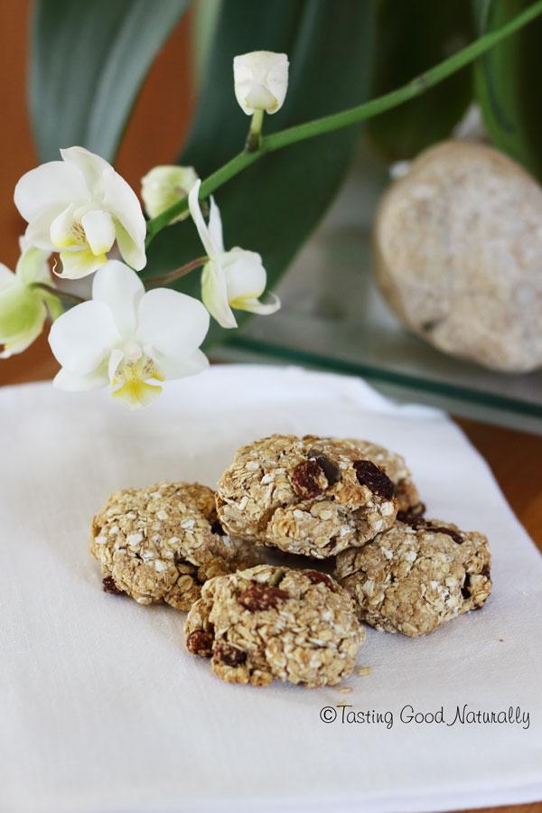 Tasting Good Naturally : Biscuits croquants aux flocons d'avoine et raisins secs #vegan