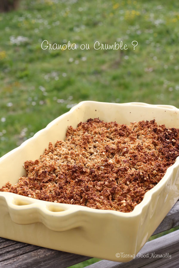 Tasting Good Naturally : Crumble de granola #vegan
