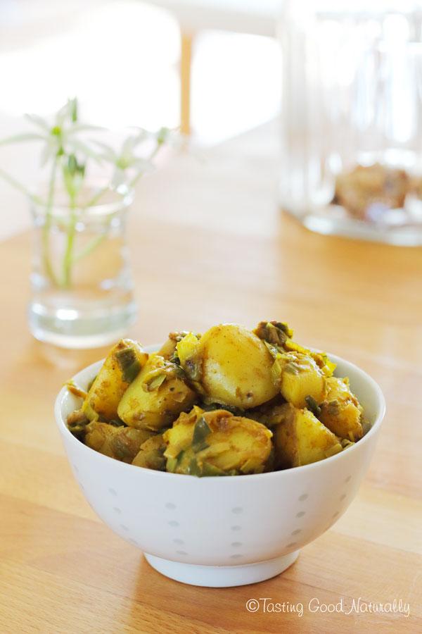 Tasting Good Naturally : Pommes de terre et poireaux aux épices colombo #vegan