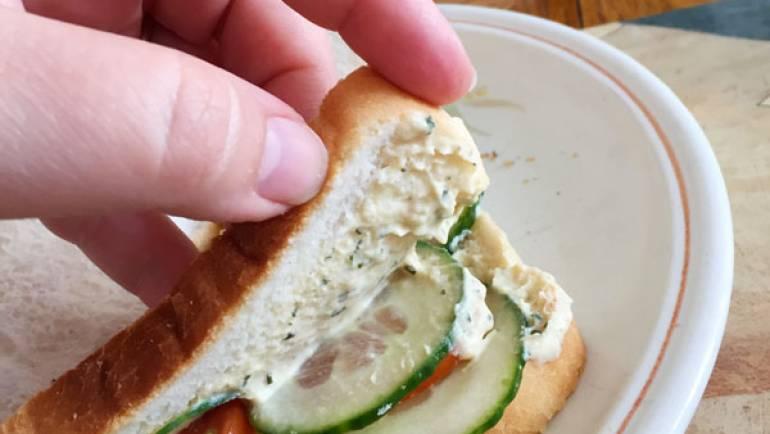 Picnic végane avec Sandwich et Smoothie #vegan