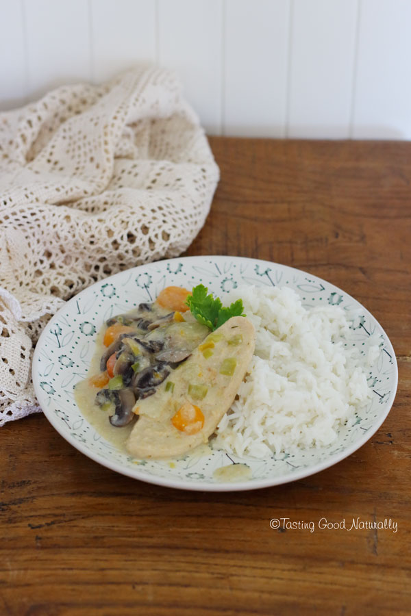 Tasting Good Naturally : Blanquette à l'ancienne #vegan - recette de Sébastien Kardinal - A la Française