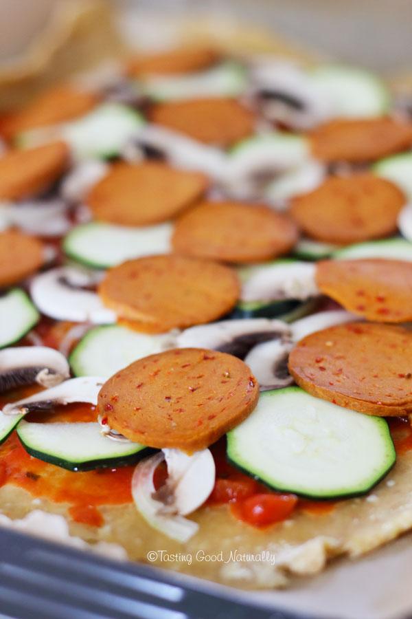 Tasting Good Naturally : on teste la pizza au Gran Chorizo #vegan