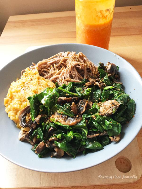 Tasting Good Naturally : Vous êtes pressé, vous n'avez pas le temps, vous ne savez pas quoi faire à manger ? Venez découvrir un repas sur le pouce vegan à faire en une vingtaine de minutes.