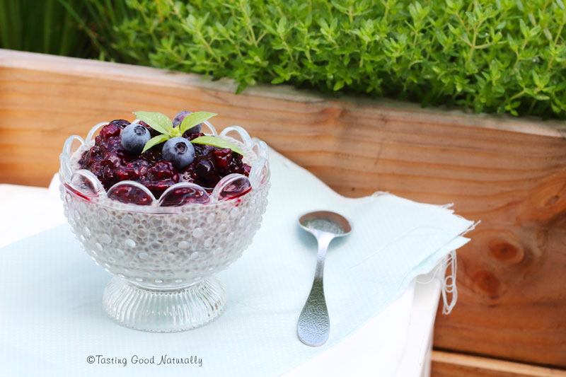 Tasting Good Naturally : Besoin de gourmandise ? On découvre le Chia Pudding aux Fruits Rouges #vegan