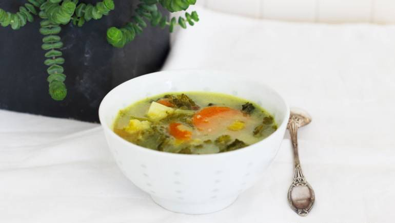 Soupe de légumes au curry #vegan
