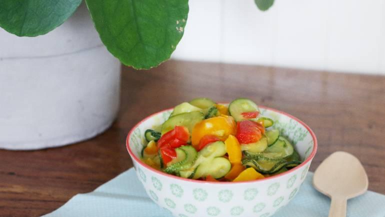 Courgettes et poivrons au lait de coco et curry #vegan