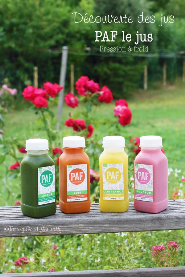 Tasting Good Naturally : Vous connaissez Paf le Jus ? PAF le jus propose de délicieux jus de légumes et fruits bio pressés à froid où les nutriments sont préservés. Ça vous dit de les découvrir ?