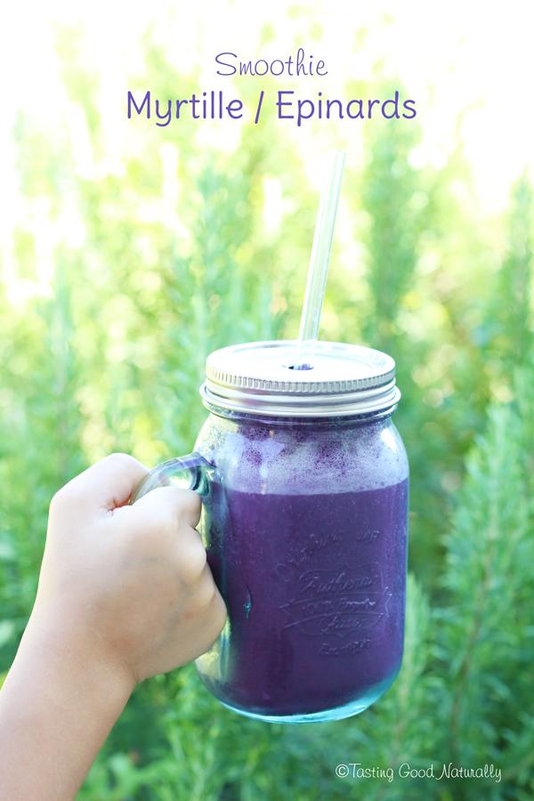 Tasting Good Naturally : Un smoothie à la myrtille, pour le petit déjeuner, ça vous dit ? Venez découvrir mon petit déjeuner spécial grosses chaleurs !