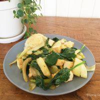 Tasting Good Naturally : Je partage avec vous une idée de repas express : poêlée de fenouil, tofu et épinards. Manque de temps, vie trépidante, on pense ne pas toujours avoir le temps de faire à manger !