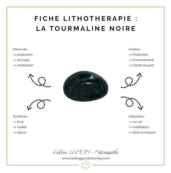 Tasting Good Naturally : Aujourd'hui, dans les 31 choses pour bien commencer l'année en Naturopathie, je souhaite vous faire découvrir une nouvelle fiche Lithothérapie : la Tourmaline noire.