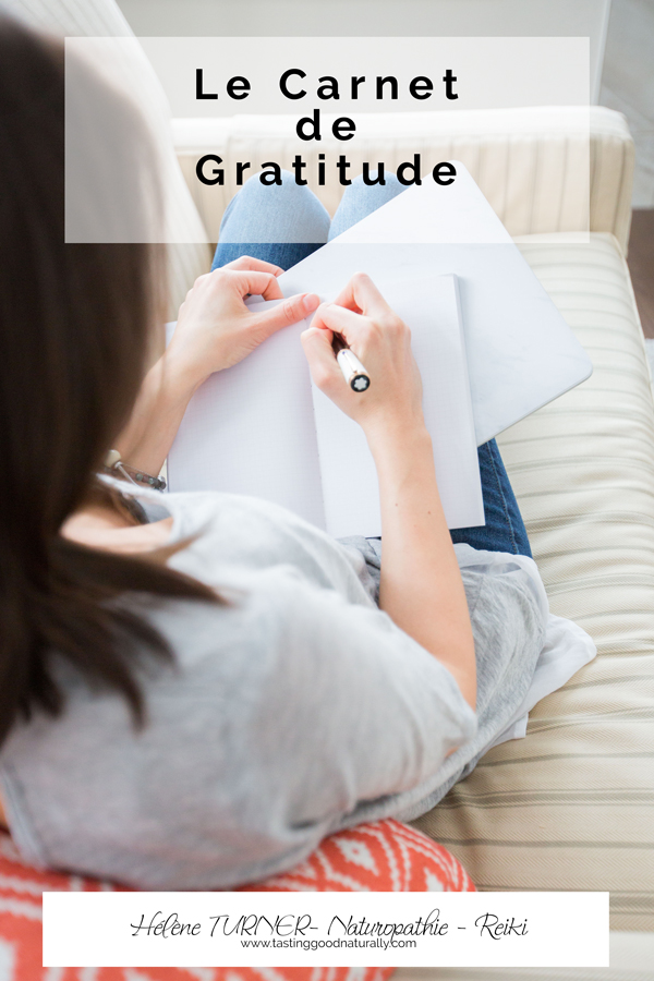 Hélène TURNER - Naturopathie - Reiki : Que dirirez-vous de vous reconnecter à vos petits bonheurs en tenant un carnet de gratitude qui est un outil puissant pour cultiver la pensée positive.